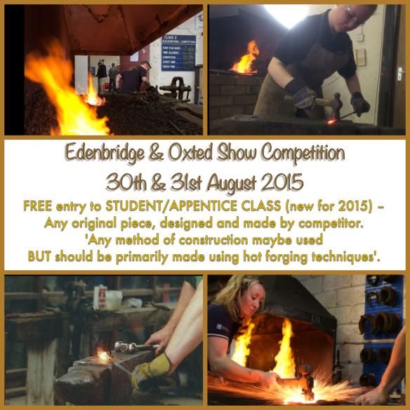 Student Class, Blacksmith competition, Edenbridge and Oxted Show, Blacksmith, Hand forged, Ironwork, Forge, Wrought Ironwork, Hot Forged, Blacksmithing