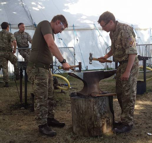 Military Blacksmiths Competition, NBCC, NBCC Live Forging Champion 2015, 2015, Live Forging Champion, Blacksmith competition, New Forest & Hampshire Show, Blacksmith, Hand forged, Ironwork, Forge, Wrought Ironwork, Hot Forged, Blacksmithing, 2015