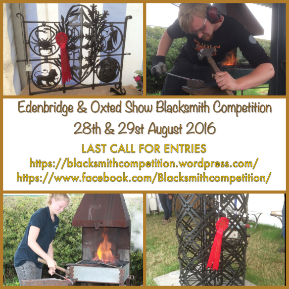 Edenbridge and Oxted Blacksmith Competitions, Wrought Ironwork,Blacksmiths Competition, NBCC, NBCC Live Forging , Live Forging, Blacksmith competition, North Somerset Show, Blacksmith, Hand forged, Ironwork, Forge, Wrought Ironwork, Hot Forged, Blacksmithing, 2016