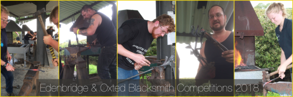 Edenbridge and Oxted Blacksmith Competitions, Wrought Ironwork,Blacksmiths Competition, NBCC, NBCC Live Forging , Live Forging, Blacksmith competition, Blacksmith, Hand forged, Ironwork, Forge, Wrought Ironwork, Hot Forged, Blacksmithing, 2018