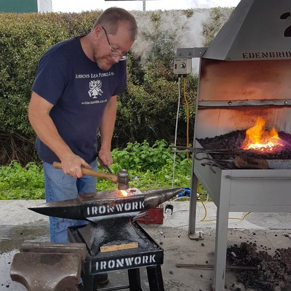 Nick Bates, Live Forging Competition, Edenbridge and Oxted Blacksmith Competitions, Wrought Ironwork,Blacksmiths Competition, NBCC, NBCC Live Forging , Live Forging, Blacksmith competition, North Somerset Show, Blacksmith, Hand forged, Ironwork, Forge, Wrought Ironwork, Hot Forged, Blacksmithing, 2018