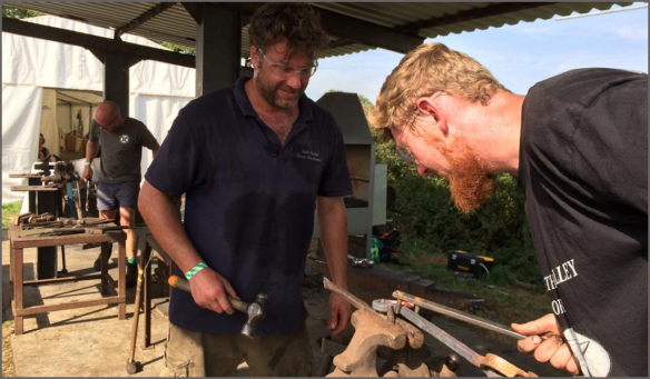 Pairs live forging, Rhys Harlin, Sam Bailey, Live Forging Competition, Edenbridge and Oxted Blacksmith Competitions, Wrought Ironwork,Blacksmiths Competition, NBCC, NBCC Live Forging , Live Forging, Blacksmith competition, Edenbridge and Oxted Show, Show, Blacksmith, Hand forged, Ironwork, Forge, Wrought Ironwork, Hot Forged, Blacksmithing, 2019