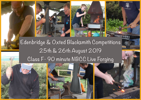 Live Forging, 90 mins Live Forging, Crowd, Competition,, Wrought Iron, Edenbridge and Oxted Blacksmith Competitions, Wrought Ironwork,Blacksmiths Competition, NBCC, NBCC Live Forging , Live Forging, Blacksmith competition, Blacksmith, Hand forged, Ironwork, Forge, Wrought Ironwork, Hot Forged, Blacksmithing, 2019